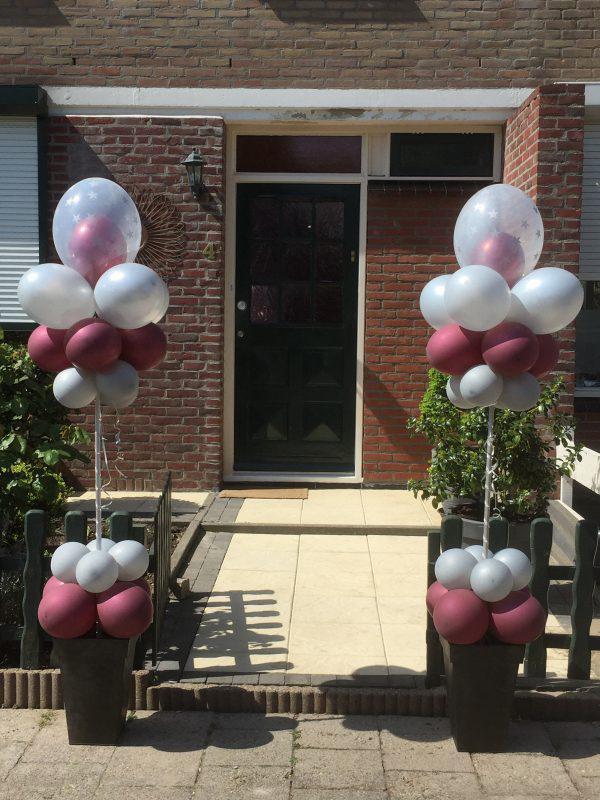 Ballonnen Pilaren led bloempotten