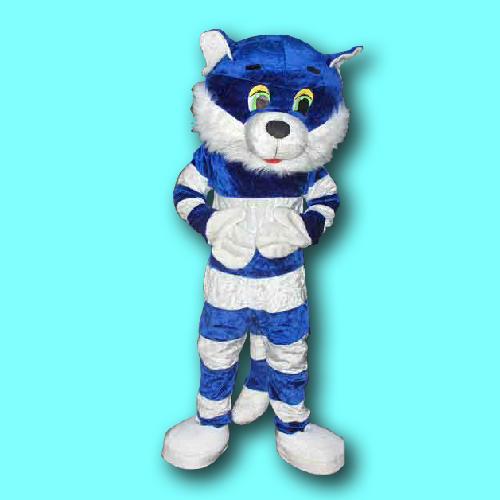 mascotte blauw wit