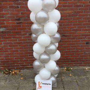 Ballonnenpilaar zilver wit