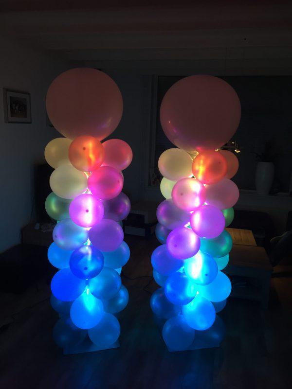 Ballonnen pilaren met Led