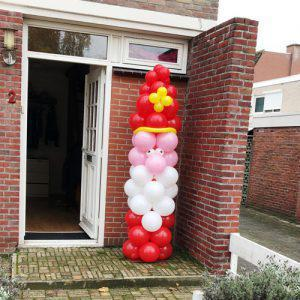 Ballonnen pilaar Sinterklaas