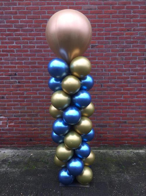 Ballonnenpilaar Chrome met topballon