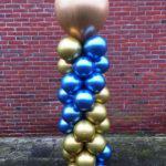 Ballonnen Pilaar Chrome met topballon