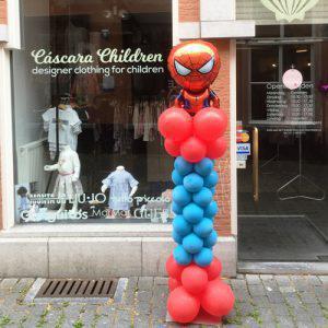 Ballonnenpilaar spiderman