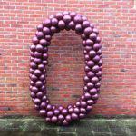 Ballonnen pilaar cijfer 0