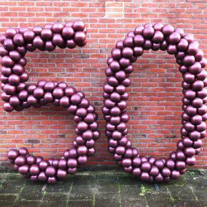 Ballonnen pilaar cijfer 50