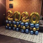 Ballonnen Pilaar Chrome cijfers 2020