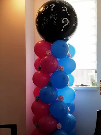 gender reveal topballon zwart