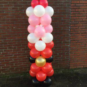 Ballonen pilaar Kerstman