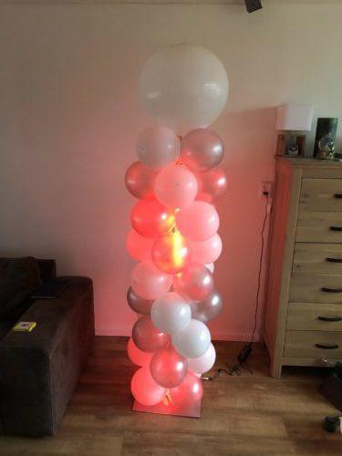 Ballonnen pilaar met Led