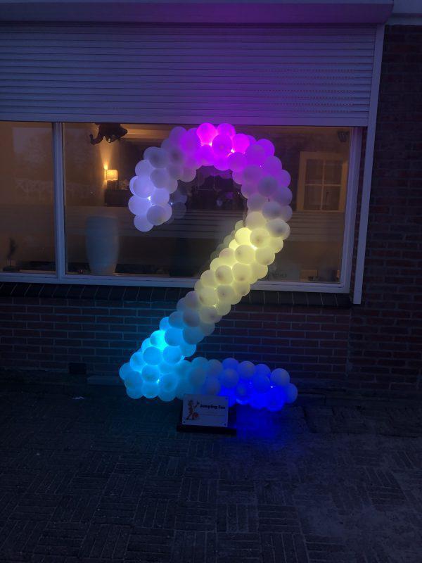 Ballonen cijfer 2 led