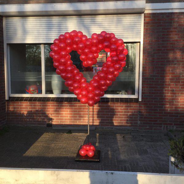 ballonnen hart rood