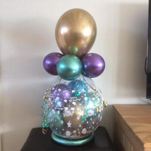 ballonnen cadeau Chrome goud