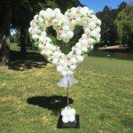 Ballonnen pilaar hart wit