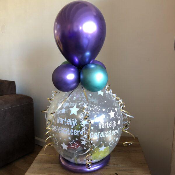 Ballonnen cadeau Chrome paars