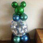 Ballonnen cadeau Mickey groen