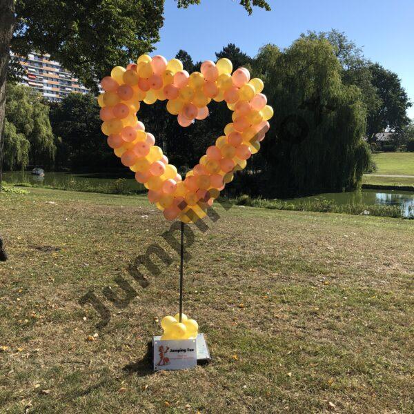 Ballonnen pilaar hart roze goud