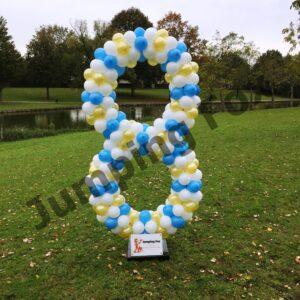Ballonnen pilaar cijfer 8
