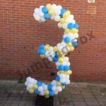 Ballonnenpilaar cijfer 3