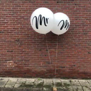 Ballonnen helium Mr - Mrs.