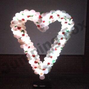 ballonnenpilaar wit met led