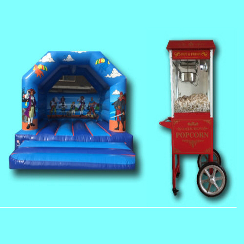 springkussen + popcornmachine