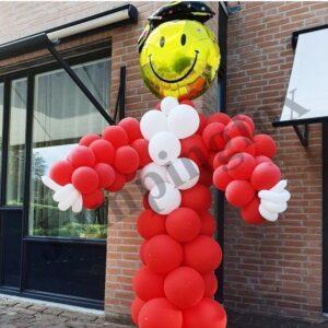 ballonnenpilaar pop geslaagd