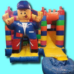 springkussen bricks met plonsbad
